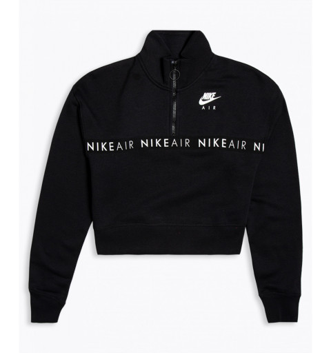 Sudadera Nike W NSW Air Top HZ Black