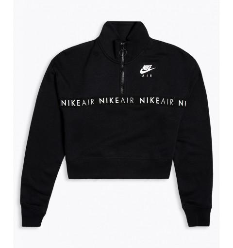 Sudadera Nike W NSW Air Top HZ Black