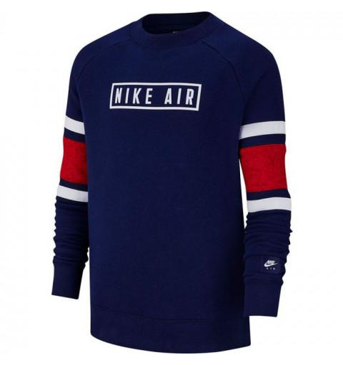 Sudadera Nike Boys Air Ls Crew Azul