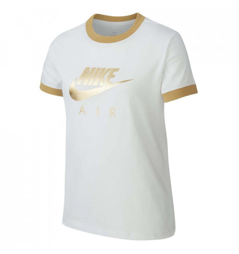 Camiseta Nike G Nsw Air Logo Ringer White