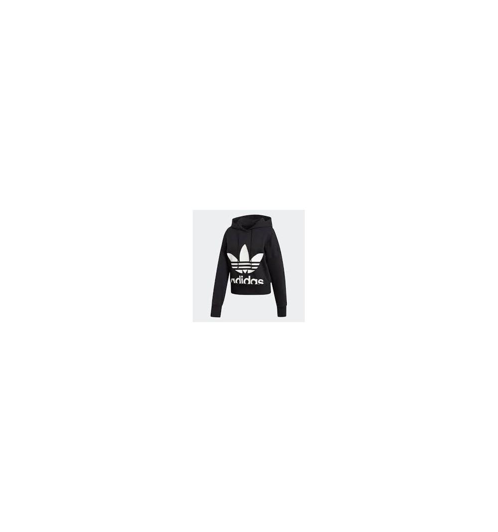 Sudadera Adidas Cropped Hoodie Black