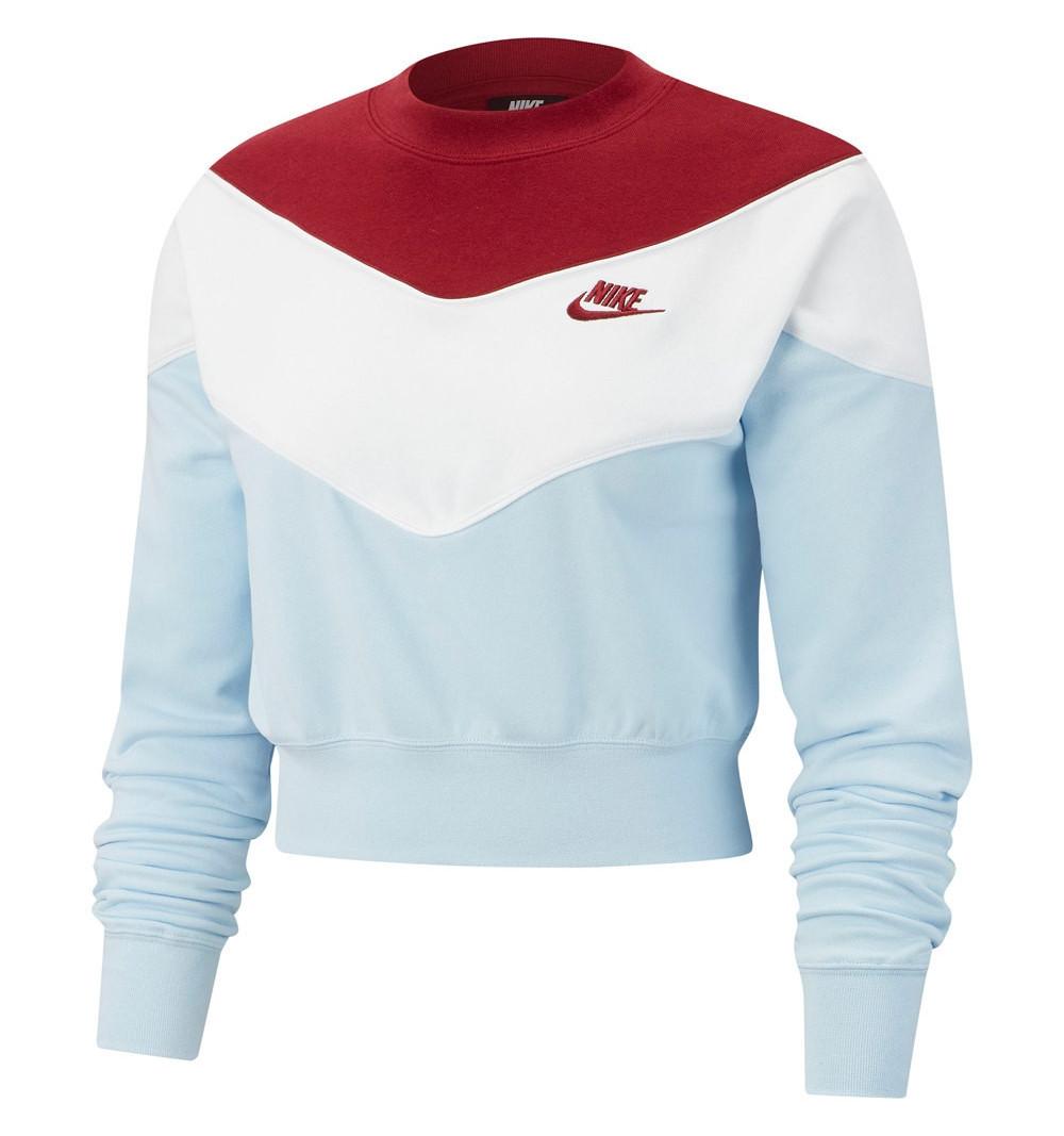 Sudadera Nike W NSW Heritage Crew Blue