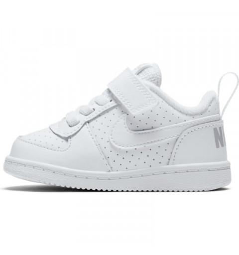 Nike Court Borough Low White-White