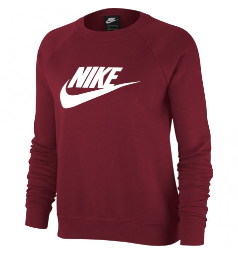 Sudadera Nike W NSW Essential Crew Flc Hbr Team Red