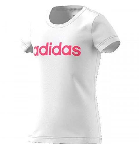 Camiseta Adidas YG E Lin White-Reapink