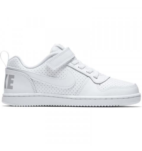 Nike Court Borough Low PS White-White