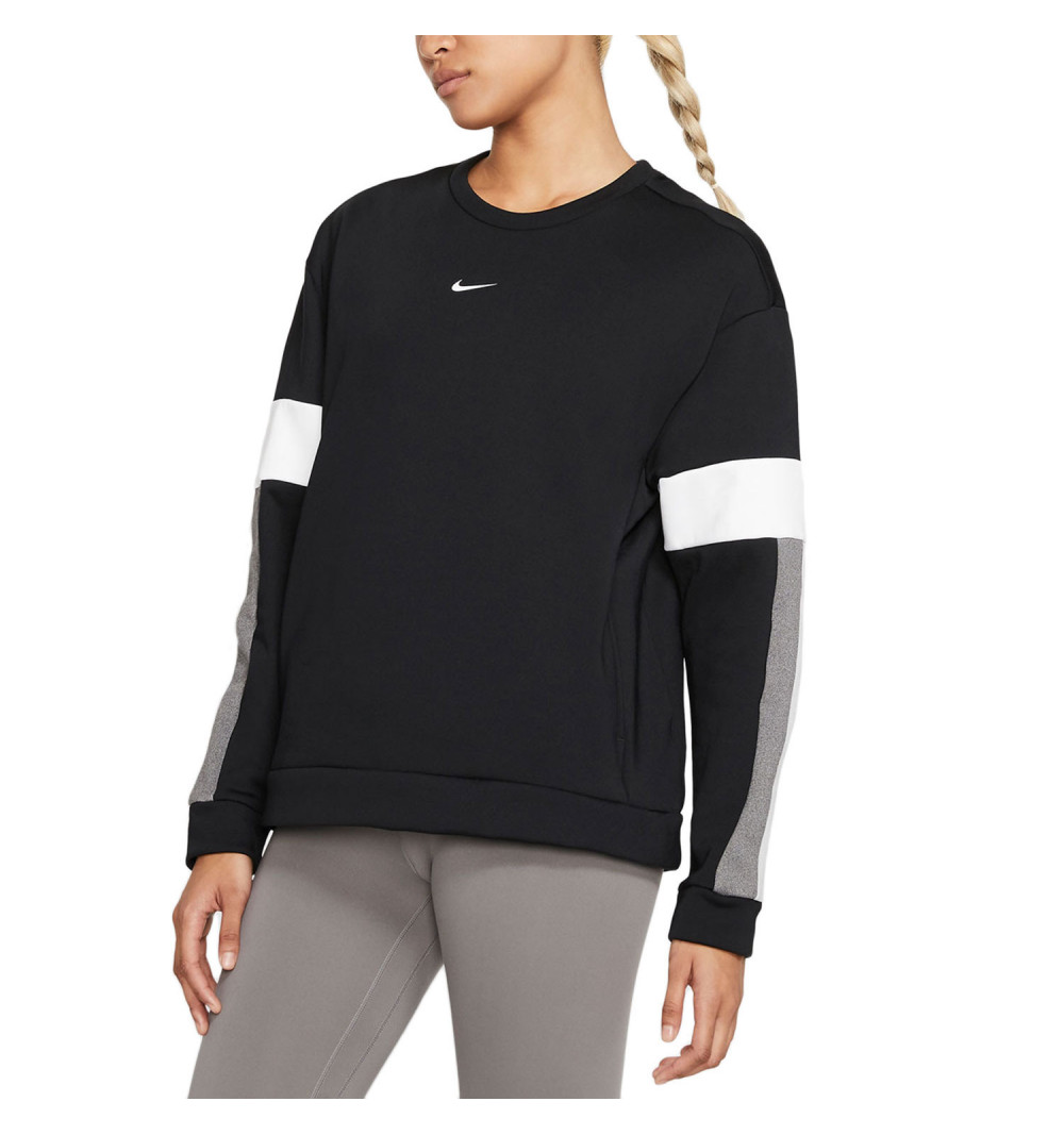 Sudadera Nike W Therm All Tm Clrbk Crew Black