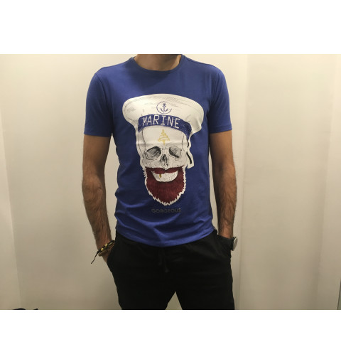 Camiseta Gorgeous Skull Blue