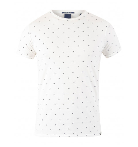 Camiseta Scotch rayas Blanca
