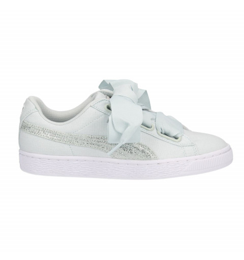 Puma Basket Heart Canvas Green
