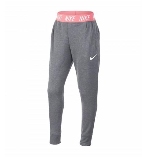Pantalón Nike Girls Dri Grey-Pink