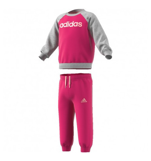 Chándal Adidas Linear Fleece Rosa