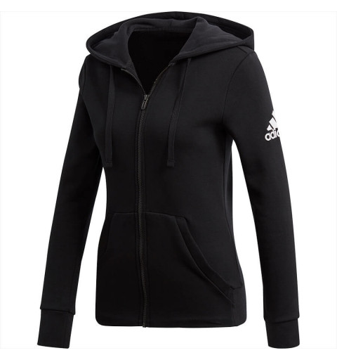 Sudadera Adidas Ess Solid FZ HD Black