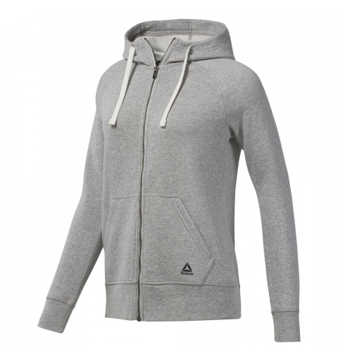 Sudadera Reebok W Full Zip Grey