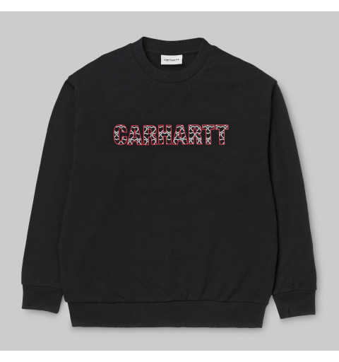 Sudadera Carhartt W HD Hearts Black