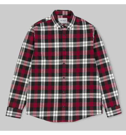 Camisa Carhartt L/S Lessing Mulberry