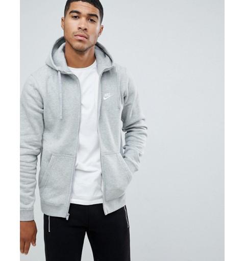 Sudadera Nike NSW Club Hd FZip Grey