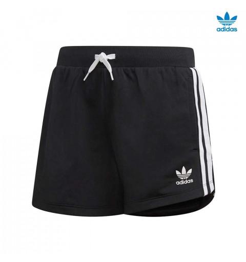 Short Adidas 3 Stripes Black-White