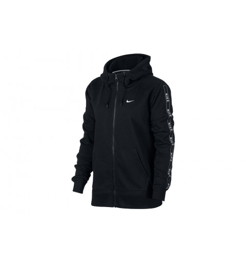 Sudadera Nike W Nsw Hd Fz Logo Black