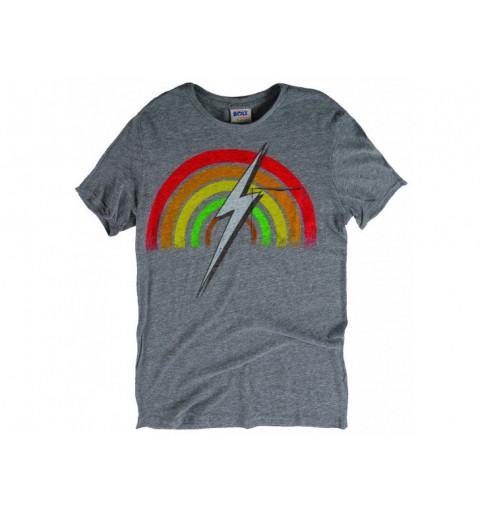 Camiseta Bolt Rainbow Crew Grey