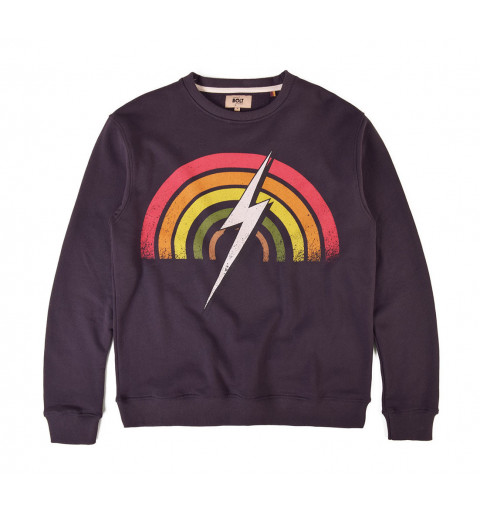 Sudadera Bolt Rainbow Crew Phantom