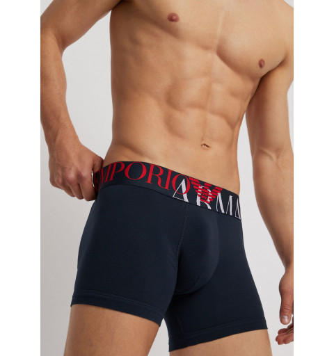 Boxer EA7 Megalogo Stretch Cotton Marine