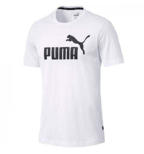 Camiseta Puma Ess Logo White