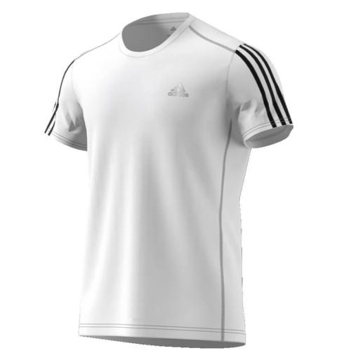 Camiseta Adidas Run 3S Tee White