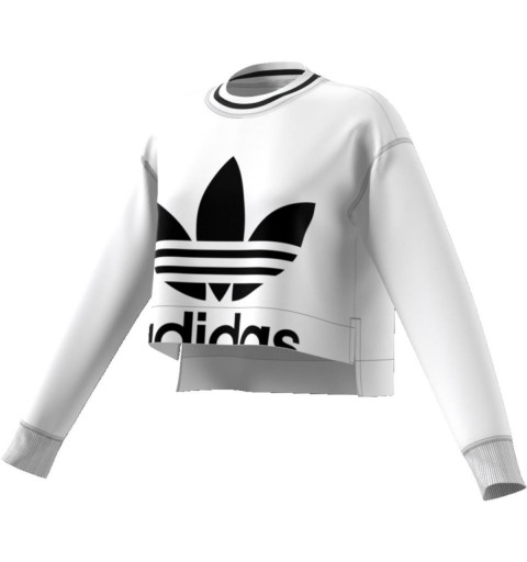 Sudadera Adidas Cropped Sweater White