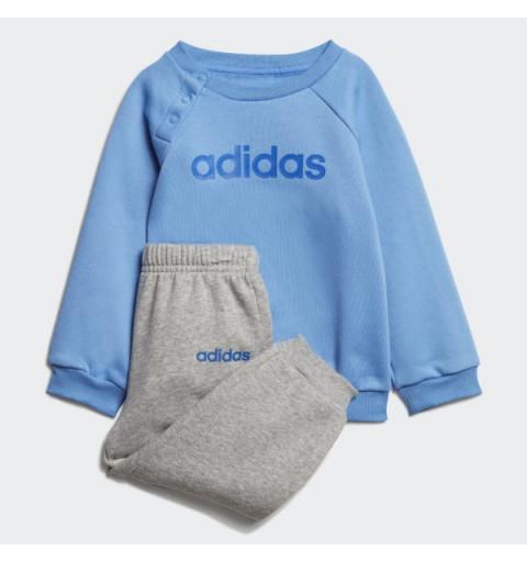 Cjhandal Adidas I Lin Jogg Fl ReaBlue-Grey