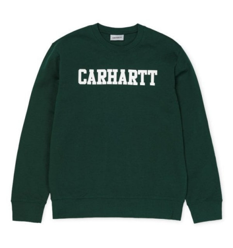 Sudadera Carhartt College Dark Fir/White