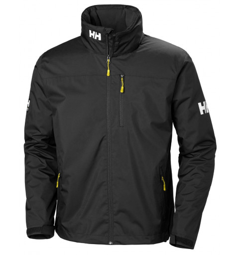 Chaqueta Helly Hansen Crew Hooded Midlayer Negra