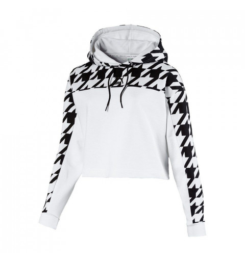 Sudadera Puma Trend AOP Hoodie White