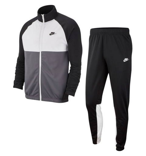 Chandal Nike M nsw Negro-Blanco
