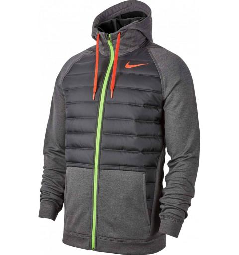 Sudadera Nike M Thrma FZ Negra