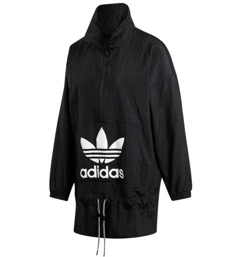 Cortavientos Adidas para mujer negro modelo ED7595