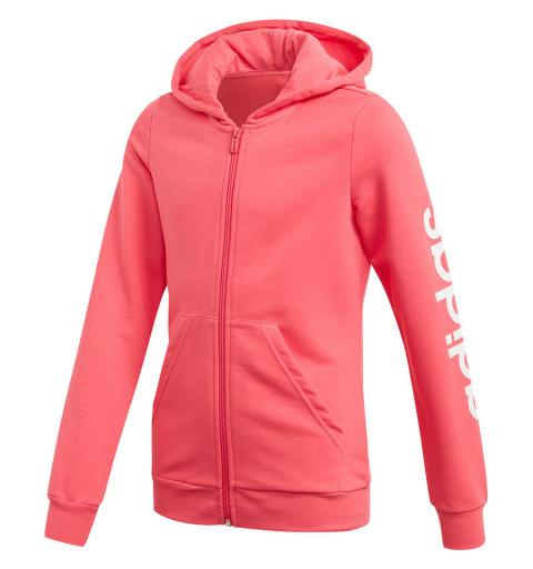 Sudadera Adidas YG E Lin FZ HD Pink EH6126