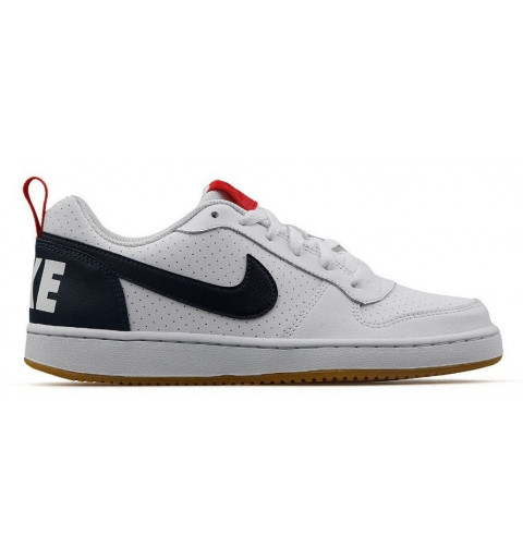 Nike Court Borough Low GS White-Obsidian