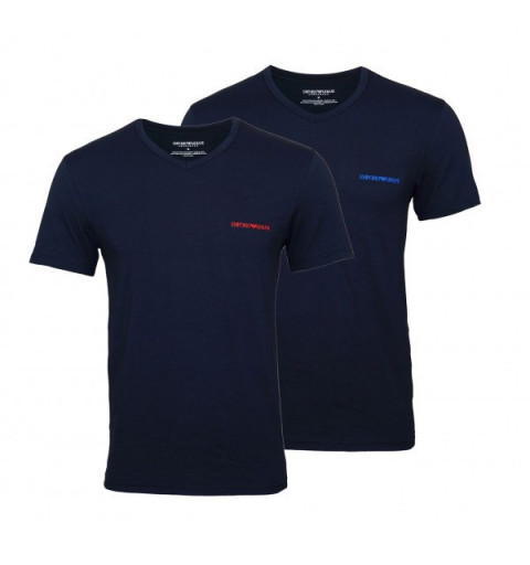 Camiseta EA7 111849 2Pack V-Neck Marine