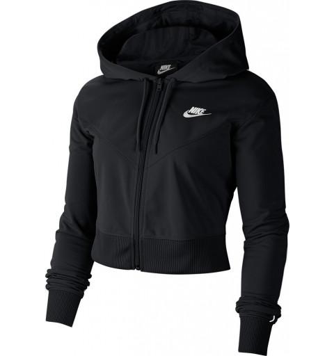 Sudadera Nike W NSW Heritage Hoodie FZ Negra