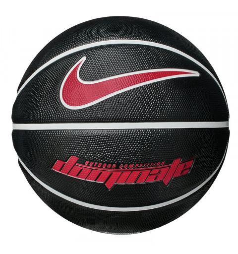 Balón Nike Basket Dominate Negro-Rojo