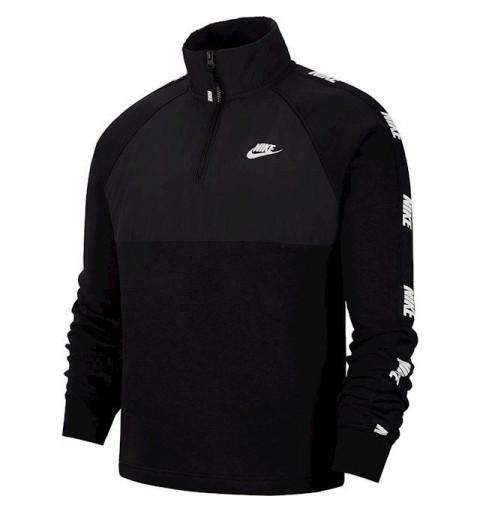 Sudadera Nike NSW Top Hybrid Negra