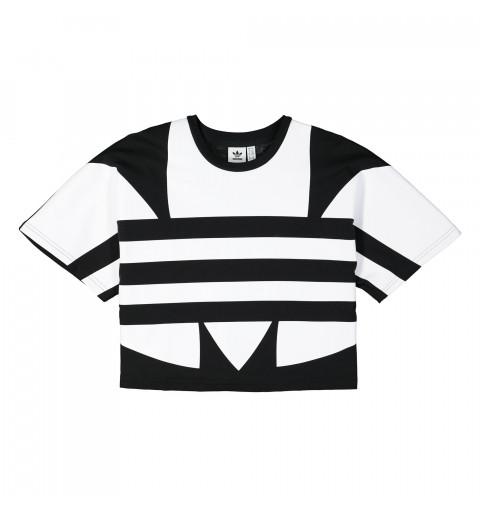 Camiseta Adidas  W LRG Logo Nehra-Blanca