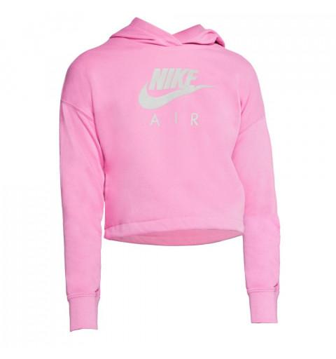 Sudadera Nike Girls Air Cropped Rosa