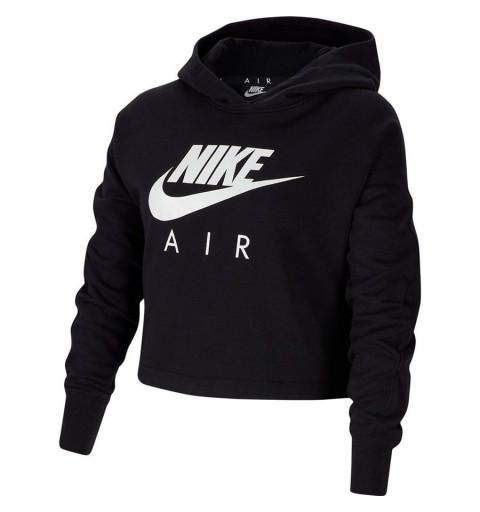 Sudadera Nike Girls Air Cropped Negra