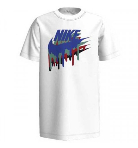Camiseta Nike Niño NSW Melted Blanca