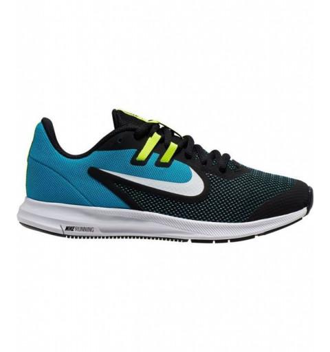 Nike Downshifter 9 GS Negra-Azul
