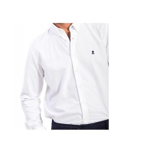 Camisa El Pulpo Oxford Lisa Blanca