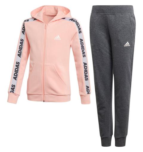 Chandal Adidas YG Hood Cot Ts Glopink