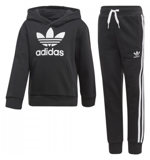 Chandal Adidas Trefoil Hoodie Black